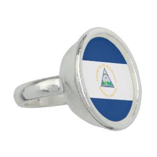 Nicaragua Flag Photo Ring