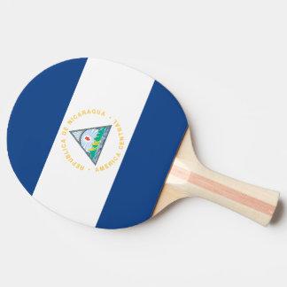 Nicaragua Flag Ping Pong Paddle