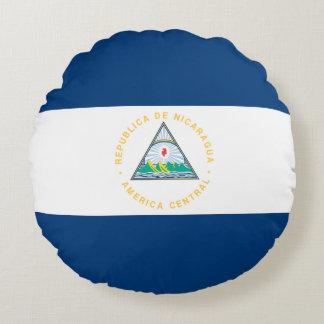 Nicaragua Flag Round Pillow