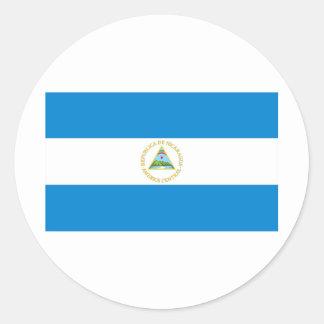 Nicaragua flag round sticker