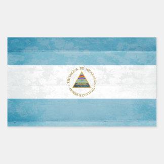 Nicaragua Flag Stickers Rectangle