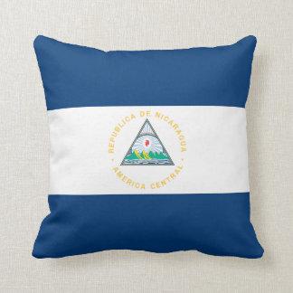 Nicaragua Flag Throw Pillow