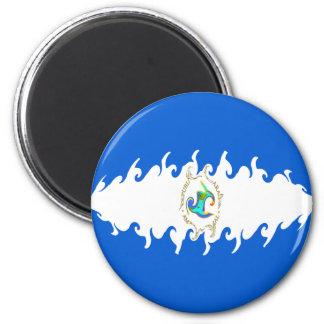 Nicaragua Gnarly Flag Refrigerator Magnets