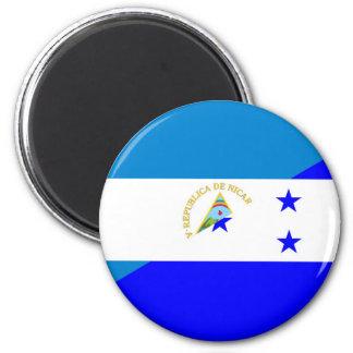 nicaragua honduras flag country half flag symbol 2 inch round magnet