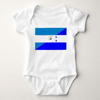 nicaragua honduras flag country half flag symbol baby bodysuit