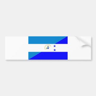 nicaragua honduras flag country half flag symbol bumper sticker