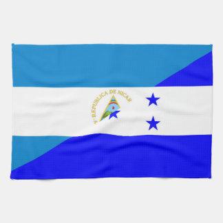 nicaragua honduras flag country half flag symbol hand towel
