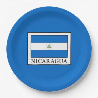 Nicaragua Paper Plate