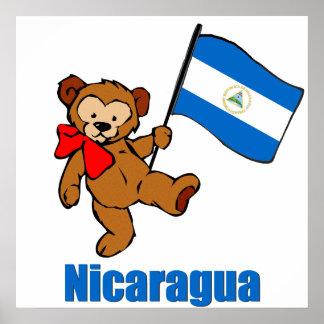 Nicaragua Teddy Bear Poster