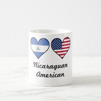 Nicaraguan American Flag Hearts Coffee Mug
