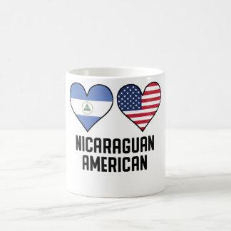 Nicaraguan American Heart Flags Coffee Mug