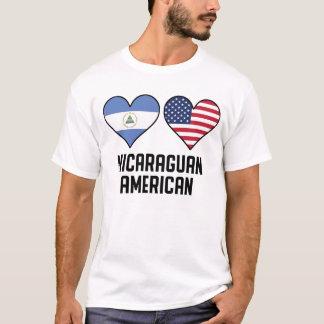 Nicaraguan American Heart Flags T-Shirt
