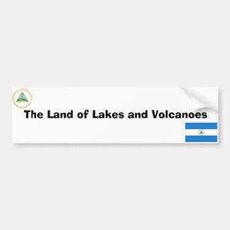 Nicaraguan flag and emblem bumper sticker