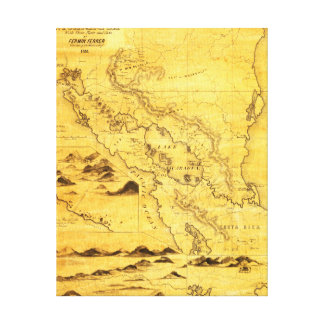 NicaraguaPanoramic MapNicaragua Canvas Print