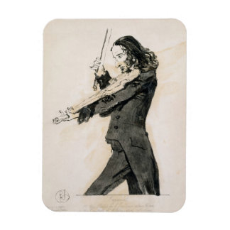 Niccolo Paganini (1782-1840) Playing the Violin, 1 Rectangular Photo Magnet