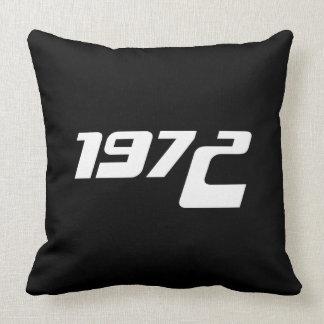Nice 1972 Print Throw Pillow