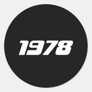 Nice 1978 Print Classic Round Sticker
