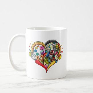 Nice art heart mug