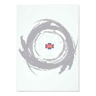 Nice Badminton Circular Grunge Card