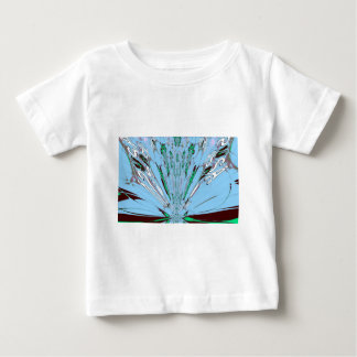 Nice Beautiful Aqua Blue  amazing  Floral Motif de Baby T-Shirt