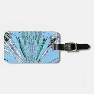 Nice Beautiful Aqua Blue  amazing  Floral Motif de Luggage Tag