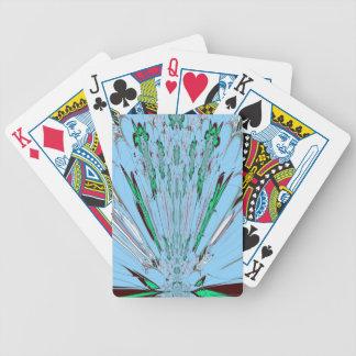 Nice Beautiful Aqua Blue  amazing  Floral Motif de Poker Deck