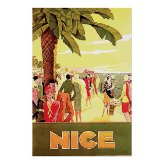 Nice by Lorenzi ~ Vintage Travel Poster