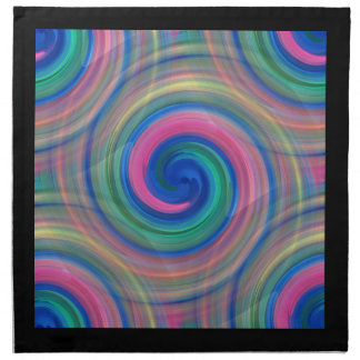 Nice candy swirl pattern with pink and purple napkin