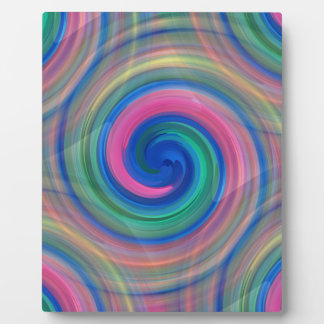 Nice candy swirl pattern with pink and purple plaque