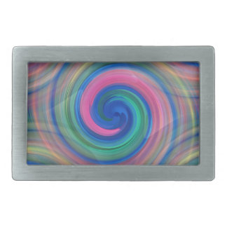 Nice candy swirl pattern with pink and purple rectangular belt buckle