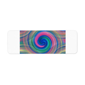 Nice candy swirl pattern with pink and purple return address label