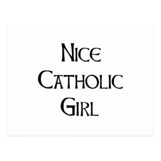 Nice Catholic Girl Postcard