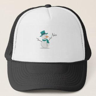 Nice Christmas Shirt - Snowman Trucker Hat