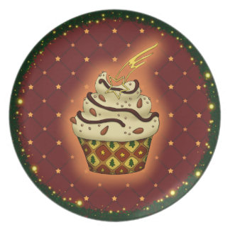 Nice Cupcake with almonds Party Plate