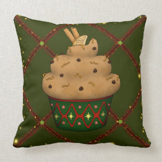 Nice Cupcake with cinnamon, orange, chocolate Throw Pillow