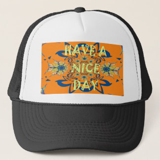 Nice day Beautiful baby dark pink floral  shade a Trucker Hat