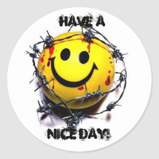 nice day smiley - new, Have A , Nice Day! Classic Round Sticker