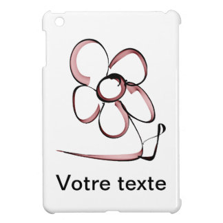 nice drawing small flower case for the iPad mini