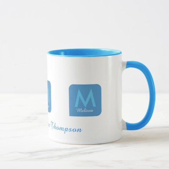 nice feminine blue mug for her