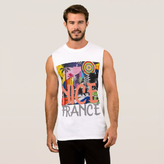 Nice France, Graffiti Mural Shirt Men's Tank