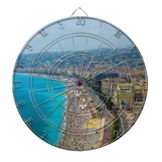 Nice France located in the French Riviera Dartboard