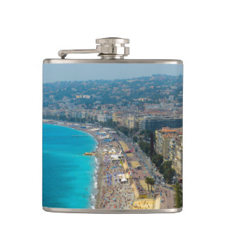 Nice France located in the French Riviera Hip Flask