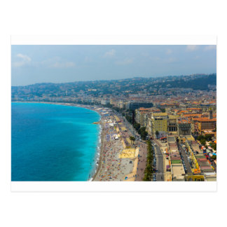 Nice France located in the French Riviera Postcard