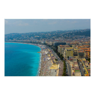 Nice France located in the French Riviera Poster