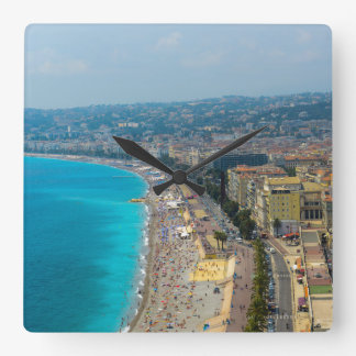 Nice France located in the French Riviera Square Wall Clock