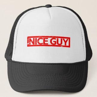 Nice Guy Stamp Trucker Hat