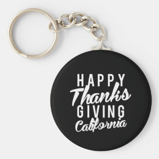 Nice Happy Thanks Giving California Print Keychain