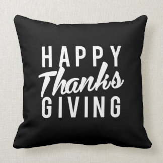 Nice Happy Thanks Giving Print Throw Pillow