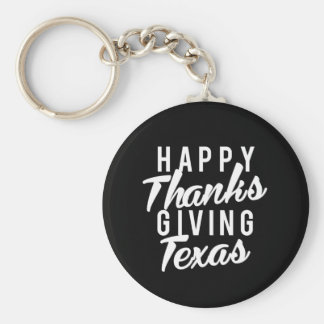 Nice Happy Thanks Giving Texas Print Keychain