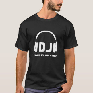 Nice headphone dj icon name shirt